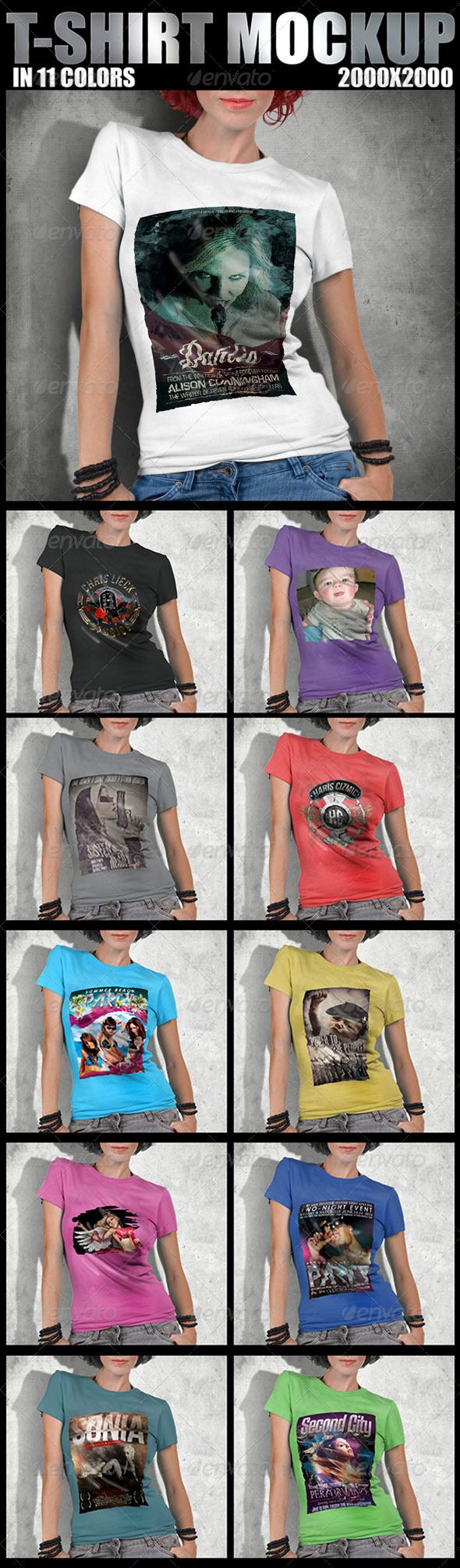 Scalable t shirt mockups more info - T Shirt Mockup Design
