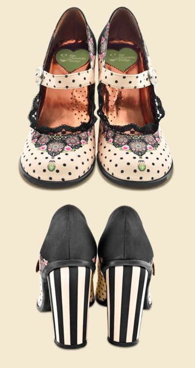 hot chocolate design shoes that r so great bc they remind me of a girly  beetlejuice a bit  <div class=