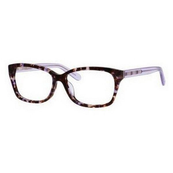 Kate Spade Demi/F 0EZ2 00 Eyeglasses ($145) ❤ liked on Polyvore featuring accessories, eyewear, eyeglasses, plum havana lavender, kate spade glasses, lens glasses, kate spade, acetate glasses and kate spade eye glasses