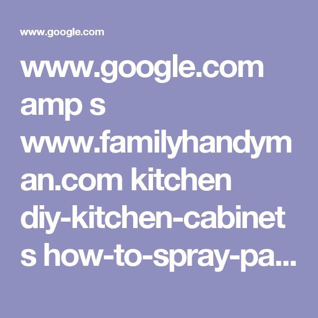 1000+ ideas about Spray Paint Kitchen Cabinets on Pinterest ...