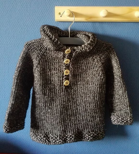 resize for doll------Ravelry: Seamless Baby Hooded Pullover pattern by Maggie van Buiten