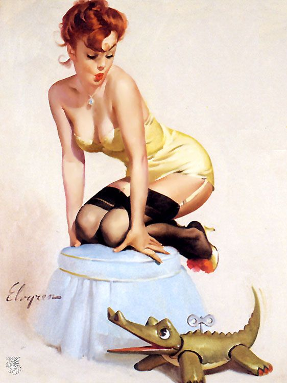 Alligator Pin Up
