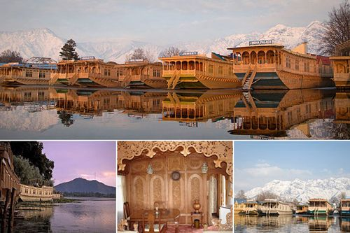 Houseboats of Kashmir (Jammu and Kashmir, India): You can rent a houseboat in Srinagar for as low as $138 a night. Located far north in the Himalayas, is famous for its wooden houseboats, many of which are stationary and are rented out as hotel suites.