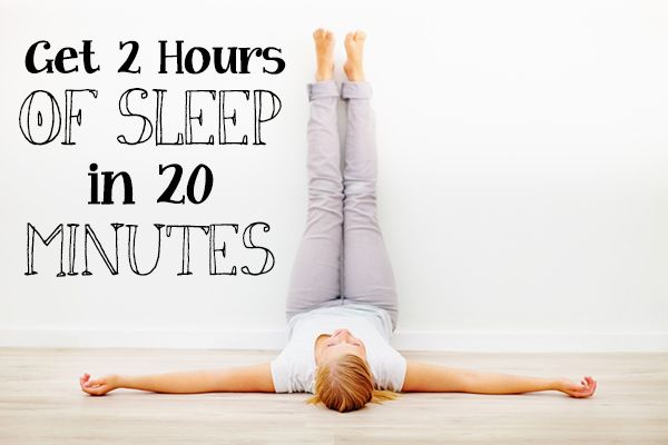 2 hours of sleep in 20 mins with this yoga pose. Interesting. Want to read more and give it a try. Can't hurt...