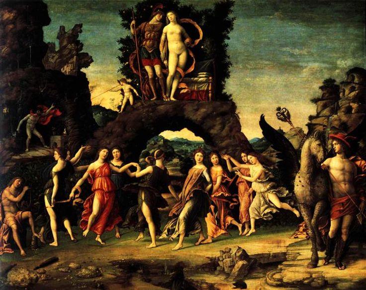 El Parnassus: Marte y Venus, 1497 - Andrea Mantegna