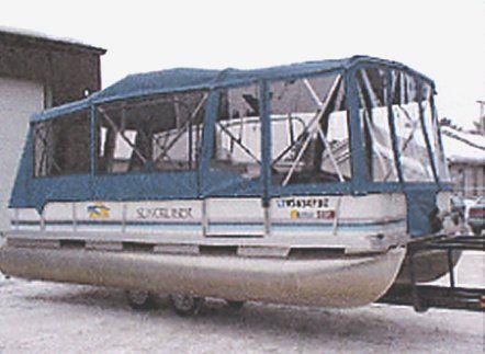 Pontoon Boat Full Camper Enclosure