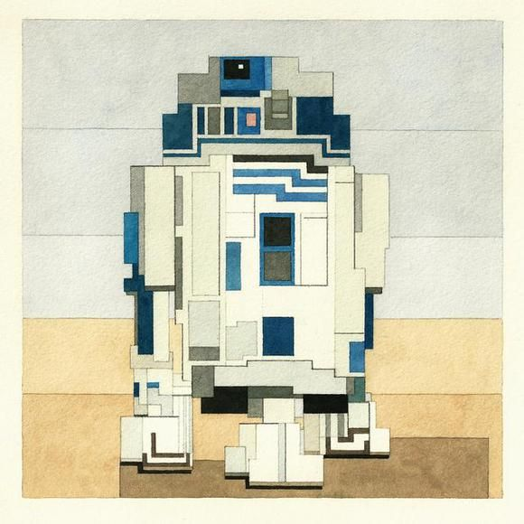 Wonderful 8-Bit Watercolors of Pop Culture Icons and Famous Artworks