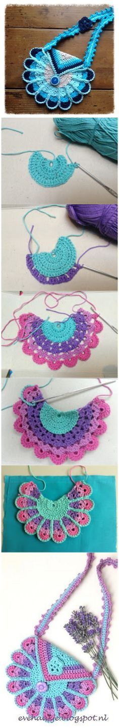 Crochet Peacock Bag Free Pattern and Tutorial #Purse More