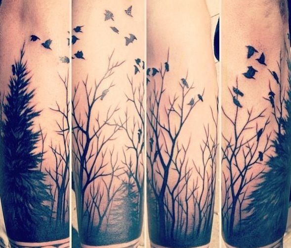 One of my favorite forest tattoos I've seen. I'd get it on my right arm or my calf.