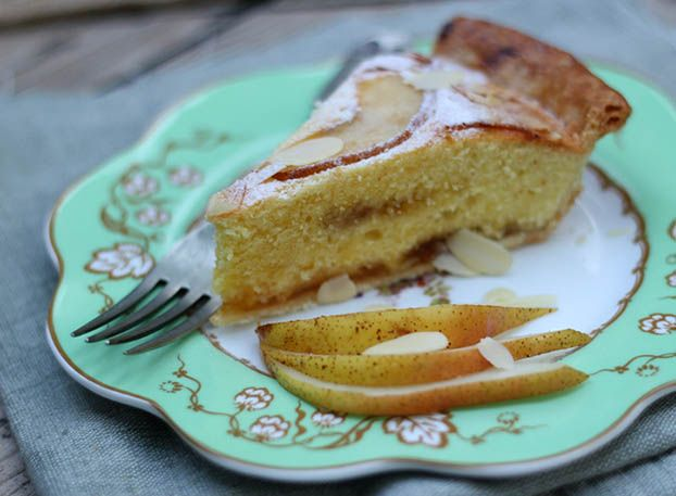 A perfect pair: Bakewell tart with pears