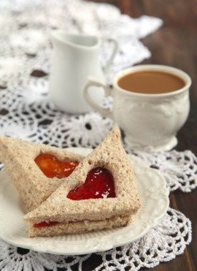 Good morning Wed2017Oct18 Strawberry Cream Cheese Tea Sandwiches - Parenting.com
