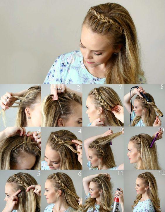 8 einfache Frisur-Ideen für weniger als 2 Minuten – #Einfache #Frisur #Ideen #M…