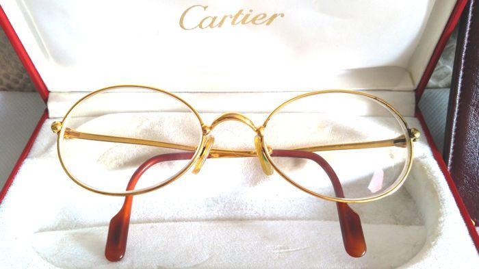 b69c4792fe8 Currently at the  Catawiki auctions  Cartier - Saturn Gold Glasses - Vintage