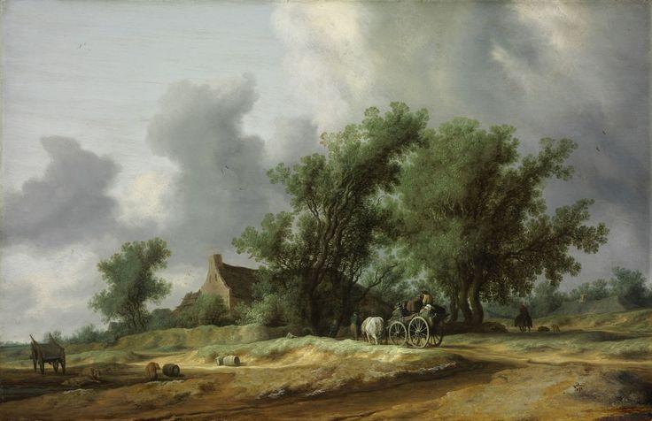 Salomon van Ruysdael - Weg in de duinen met een koets (Na de regen)