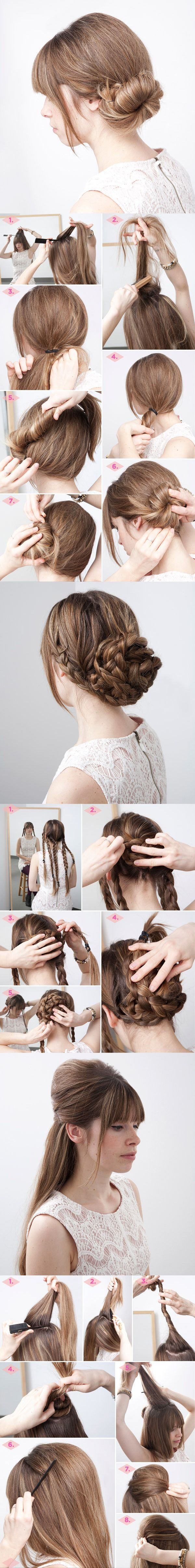Oh-So-Simple Bun Hairstyles Tutorials: 3 Kinds of Bun Hairstyles Included