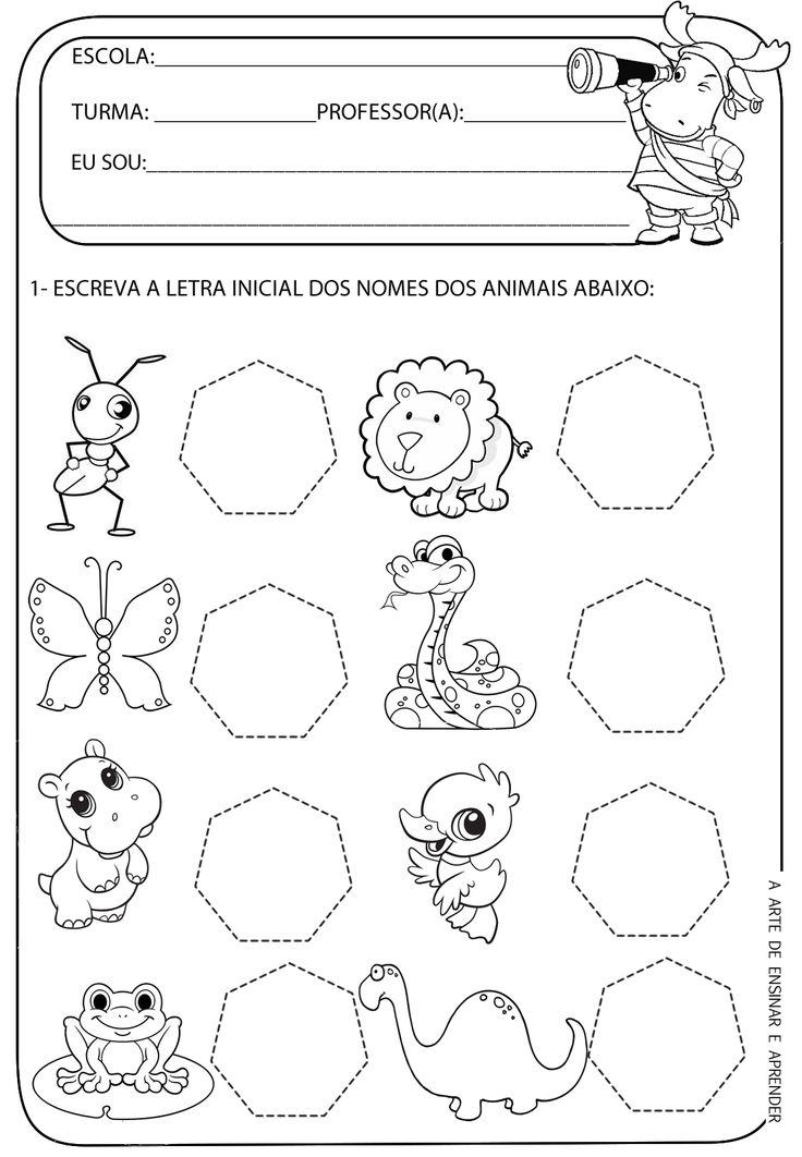 A Arte de Ensinar e Aprender: Atividade pronta - Letra inicOk ial