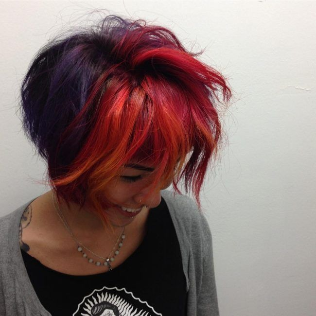 Image result for fire hair with purple