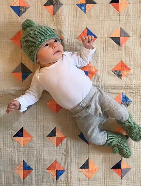 6521761454f Baby hat with ear flaps knitting pattern. Garter Ear Flap Hat by Purl Soho  knit by AboutTheYarn using The Fibre Co. Canopy Worsted in Fern