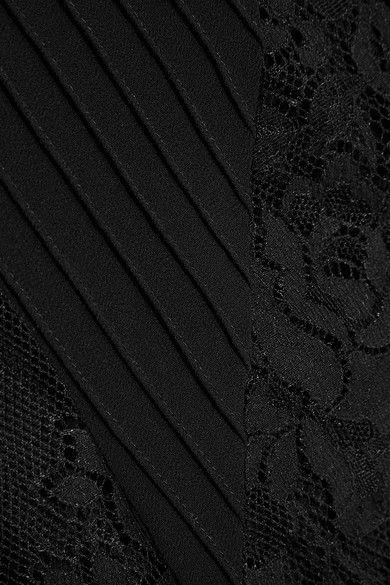 McQ Alexander McQueen - Lace-paneled Chiffon Maxi Dress - Black - IT36