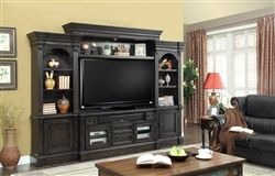 Fairbanks 4 Piece Entertainment Wall in Antique Vintage Slate Finish by Parker House – FAI-100-4