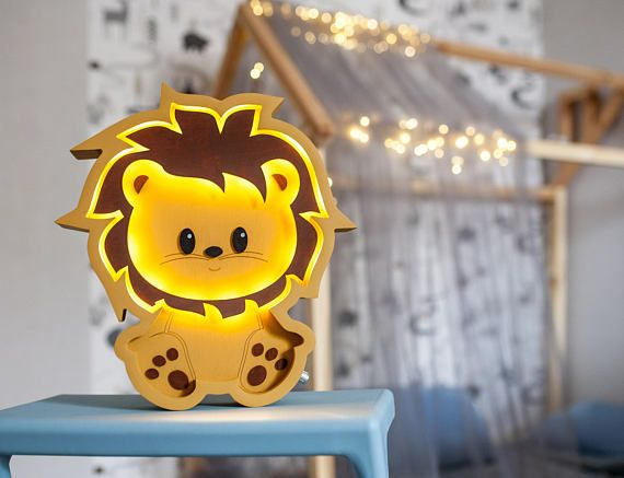 Our product is the unique Lion night lamp that is made with love and care for the most important people in your life. This Lion night light works on the simple batteries, which is very convenient because you can place it anywhere you want. Marquee light is made from birch plywood and its