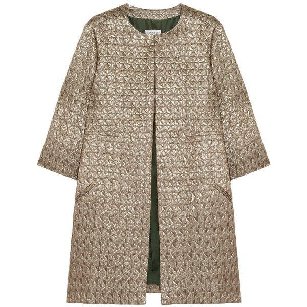 Yves Saint Laurent Metallic wool-blend metalassé coat found on PolyvoreYves Saint Laurent,  Woolen, Metalassé Coats, Metals Wool Blends, Laurent Metals, Woolblend Metalass C3 A9, Woolblend Metalassé, Metals Woolblend, Wool Blends Metalassé
