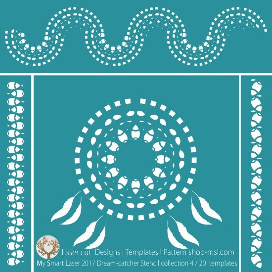 """Purpose & Meaning of the Dream Catcher. Sometimes referred to as """"Sacred Hoops,"""" dream-catchers were traditionally used as talismans to protect sleeping people, usually children, from bad dreams and nightmares. Native Americans believe that the night air is filled with dreams, both good and bad. This designer range of 20 stencil templates of dream-catchers is perfect for laser cutting. Download true Vector """"Zib"""" file (PDF, AI, EPS, SVG, CDR x4) Our templates are a..."""