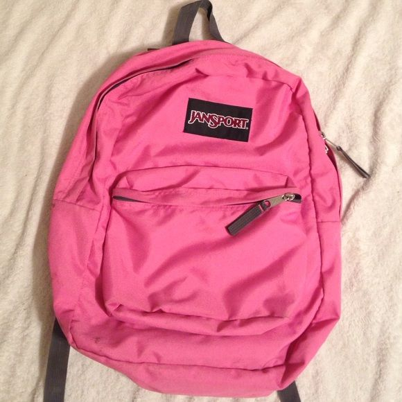 Pink jansport backpack Shows some signs of use. No rips or tears Jansport Bags Backpacks