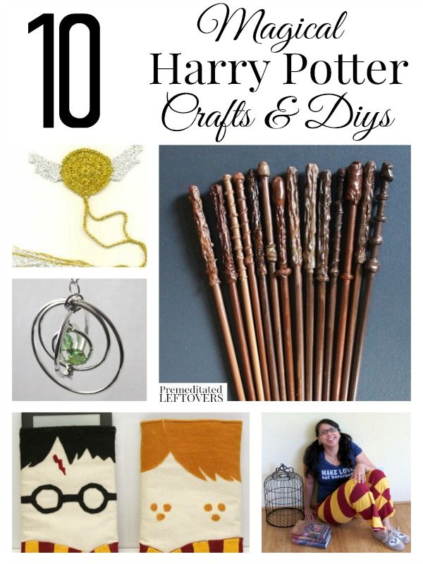 Got a Harry Potter fan in your life? Here are 10 Magical Harry Potter crafts you can make for them, including wands, scarves, snitches and DIY wizard robes!