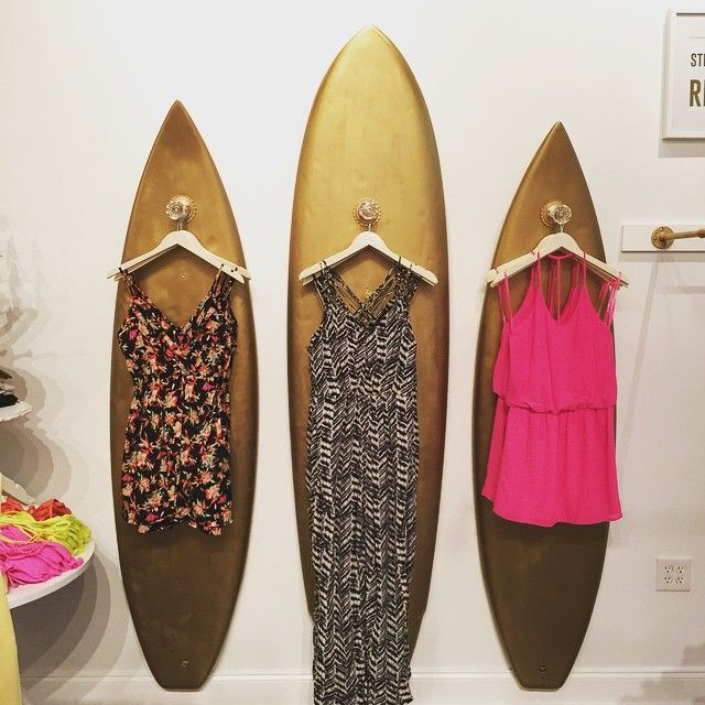 Surfboard Display at The Dress Shop Wilmington