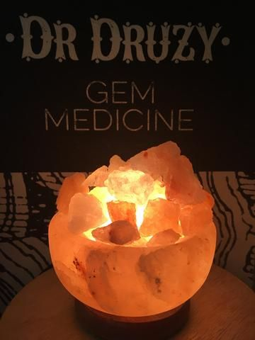 Himalayan Crystal Salt Lamp Fire Bowl - Dr Druzy - 1