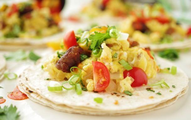 Scrambled egg and chorizo tacos | Food, Glorious Food | Pinterest