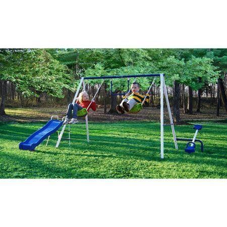 playground set swingset outdoor swing slide backyard playset for kids fun play