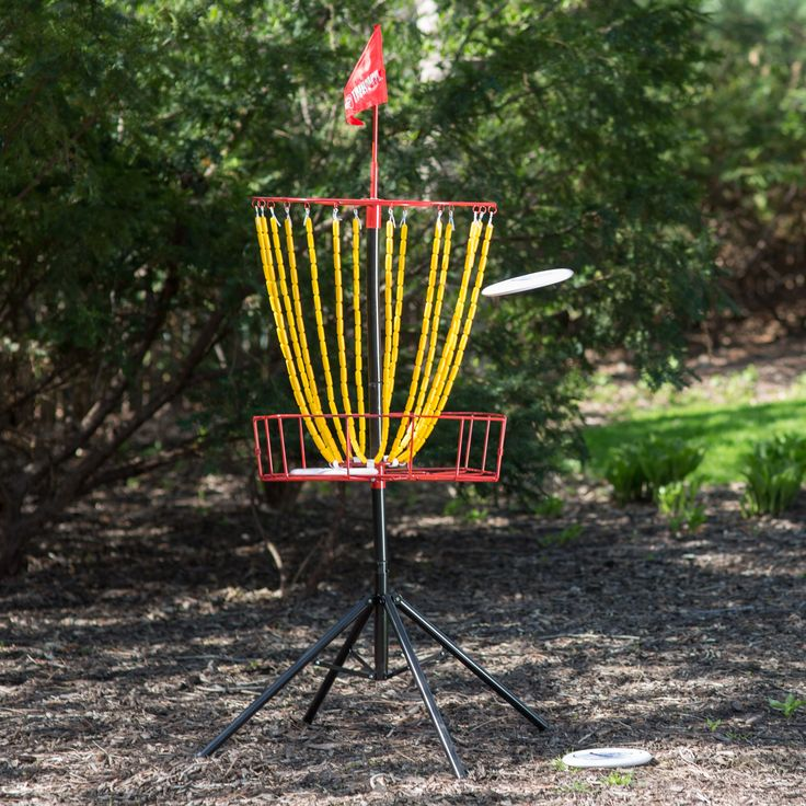 $120.  Triumph Sports Steel Disc Golf Target with 3 Discs | from hayneedle.com