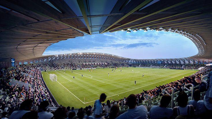 zaha hadid architects to build wooden football stadium
