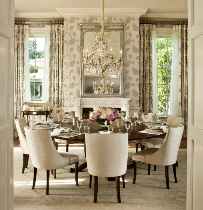 Dining Room Endearing Small Decoration Using Round Walnut Wood Table Along With Black Square Tapered Chair Legs And White Leather