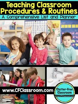 Teaching Procedures and Routines a Classroom Management ToolTeaching Procedures and Routines in the elementary classroom is the most effective method of classroom management. Taking the time to establish consistent routines and procedures will create a safe community, provide you with more time to teach, decrease discipline problems, and improve learning and productivity.This EDITABLE download will guide you through the process of thinking of EVERYTHING youll need to consider and enable you…
