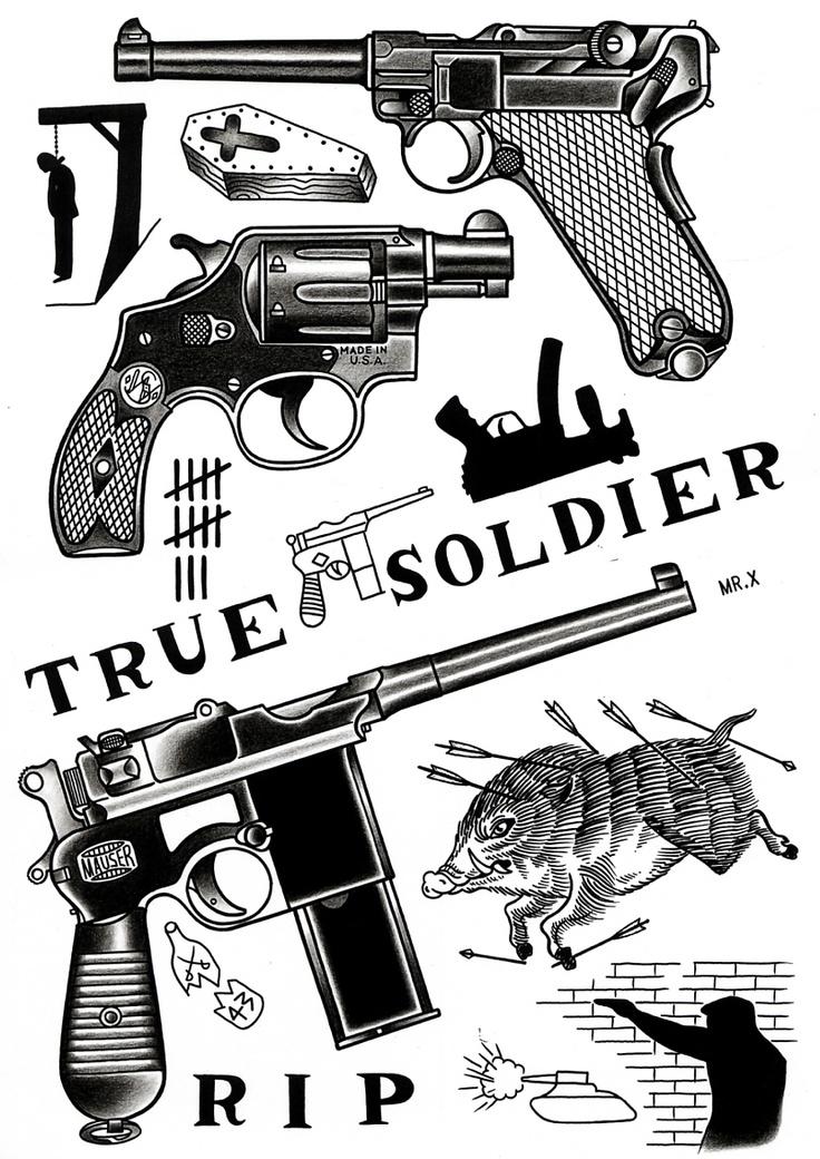 Small Tattoo Guns: Tattoos Panosundaki Pin