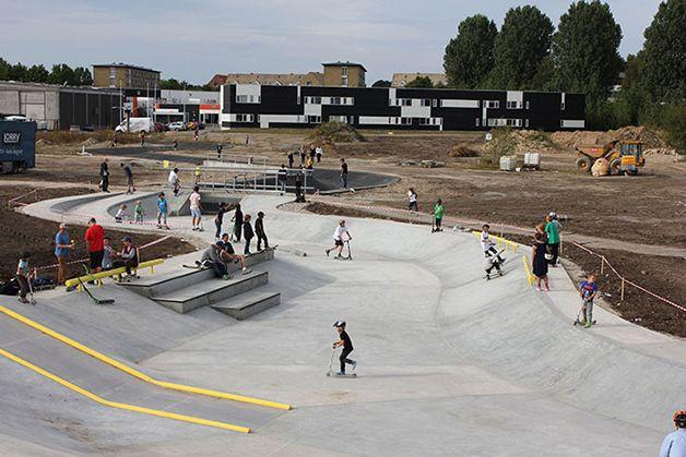 Pistas de Skate en Dinamarca funcionan como contención y drenaje frente a inundaciones