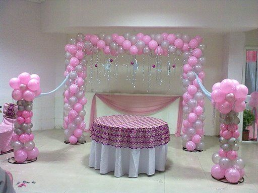 Our Balloon decore packages starts from Rs. 1500 only for 200 Balloons for a simple home or office decoration .