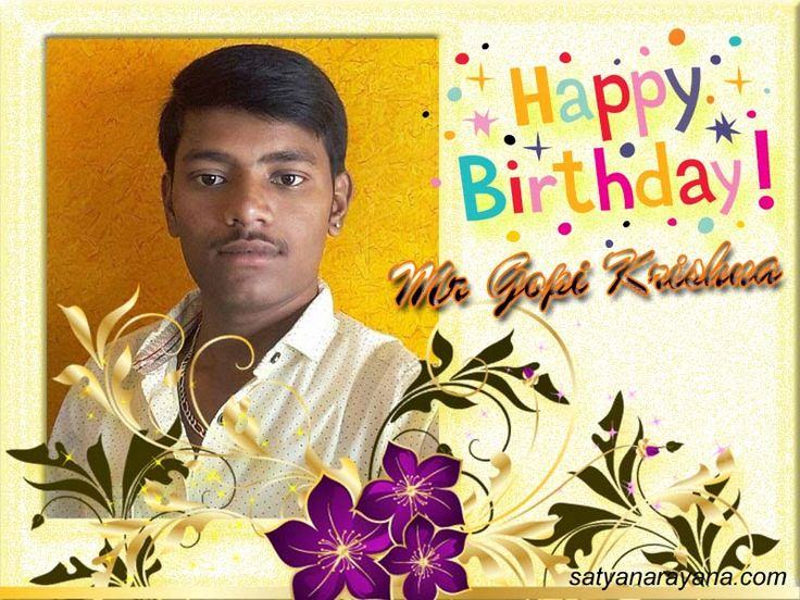 Happy Birthday Mr Gopi Krishna