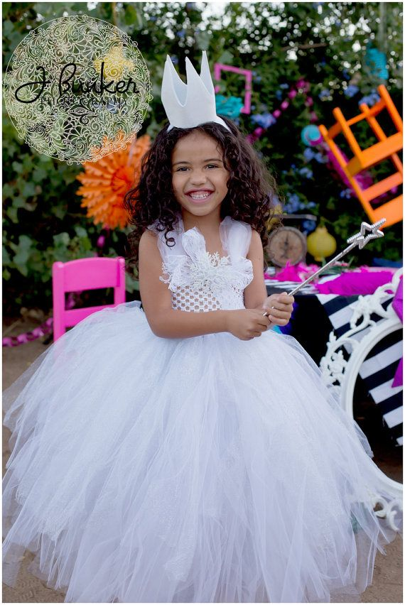 WHITE QUEEN  Tutu  Dress Alice in by AllDressedUpCouture on Etsy, $63.00