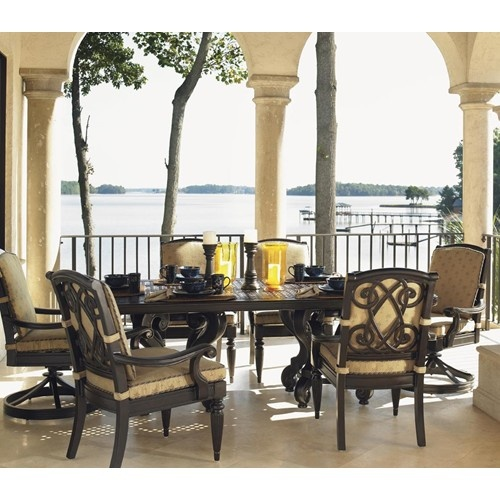 Kingstown Sedona 7 Piece Dining Set With Cast Rectangular Table And Dining  Arm And Swivel Rocker Chairs By Tommy Bahama Outdoor Living At Baeru0027s  Furniture