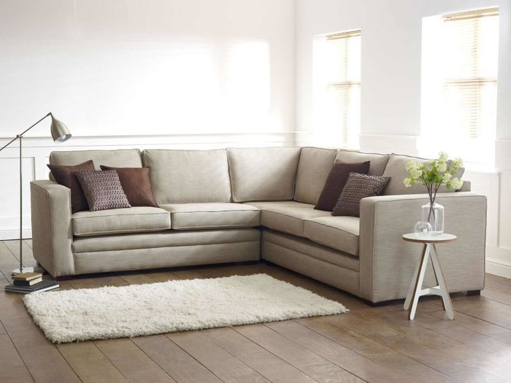 L Shaped Sofa Modern White Living Room Decoration