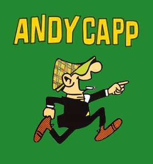 Andy Capp by Reg Smythe: Andy and his wife, Flo, live out the epitome of functional dysfunction. From the pub to the bedroom, Andy's misadventures paint an indelible portrait of an extremely British battle of the sexes. Join Andy and Flo as they bicker their way through life. Their banter can be hostile, caring, sarcastic and adorable: the perfect ingredients for a lasting marriage. | http://gocomics.com/andycapp | #comics #marriage #humor | © MGN Ltd.