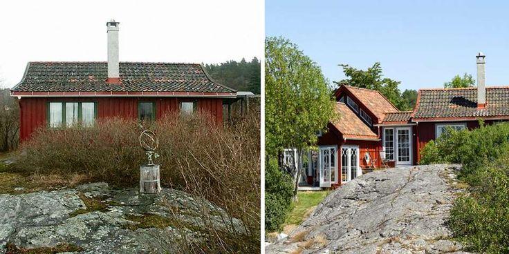 Herlig forvandling: Den opprinnelige hytta ble kalt Lysthuset, men etter dagens krav til lys og utsikt, passer nok den betegnelsen bedre på den nye delen. På den måten er den opprinnelige hyttas hovedidé videreført.