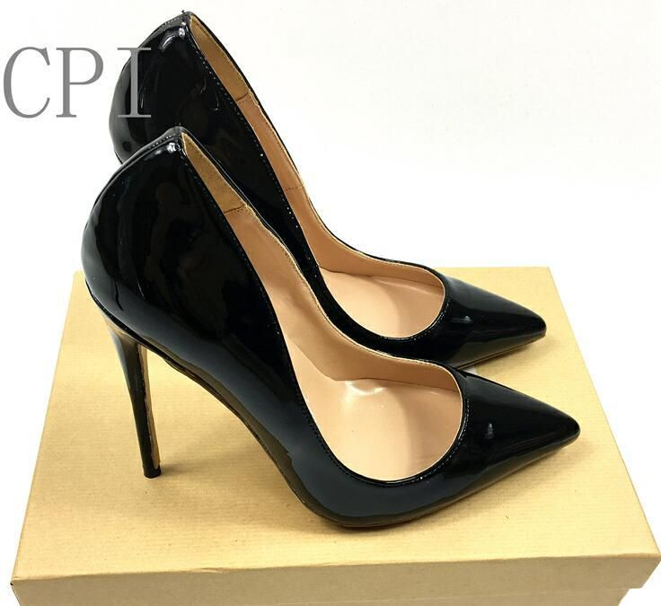 Loslandifen Classy Pointed Toe High Heels Pumps Shoe Croc