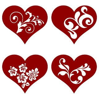 Free SVG | Hearts (The site it's from has loads of free svg files)