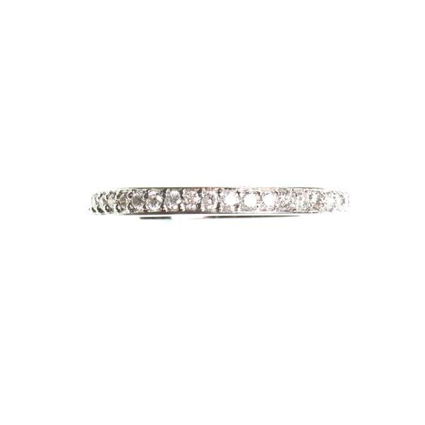 Half eternity diamond 14k yellow gold ring