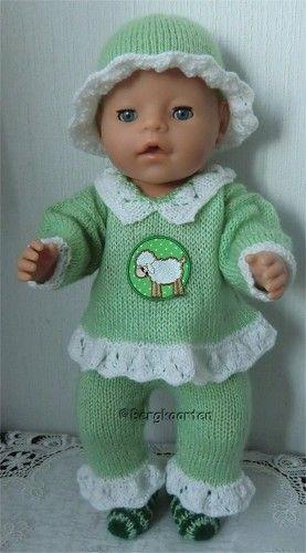 Voorbeeldkaart - setje voor BABY Born® - Categorie: Breien - Hobbyjournaal uw hobby website